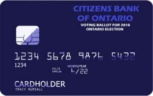 your ballot is a credit card